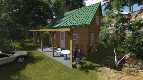 Plan cabane en bois-Plans de construction a telecharger