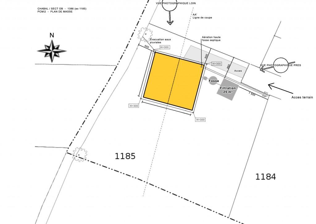 plan implantation cabane