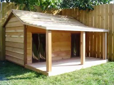 Plan niche chien 10 niches pour chien construire soi m me - Fabriquer une niche pour chat en bois ...