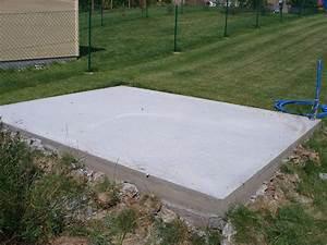 Quelle fondation choisir pour son abri de jardin le - Dalle en beton pour abri de jardin ...