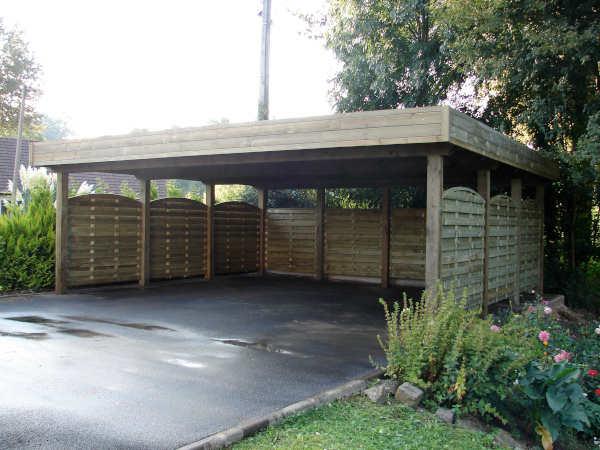 construire carport bois