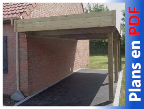 plan carport adosse