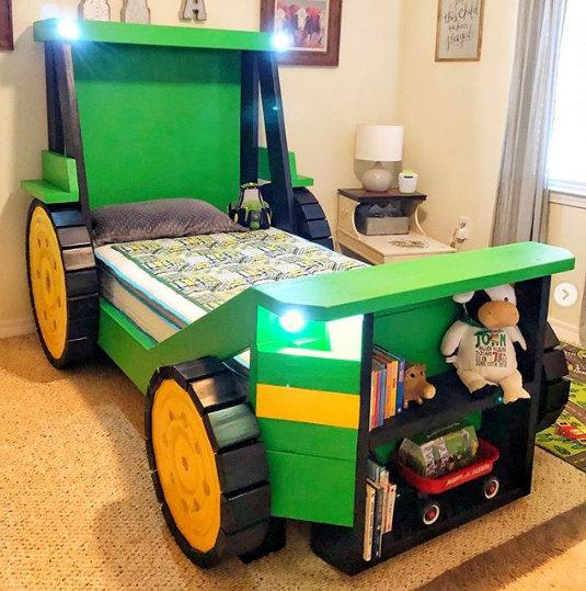 plan lit cabane 90x190 tracteur