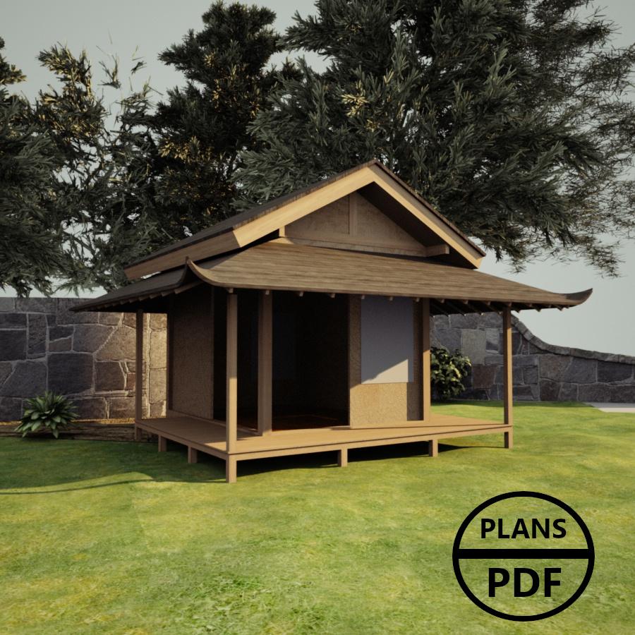 Construire Abris Bois plan abri de jardin en bois : plans en pdf à télécharger