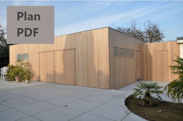 plan abri jardin ossature bois