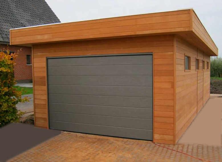 plan garage toit plat