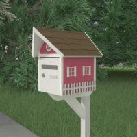 fabriquer boite lettre originale rouge