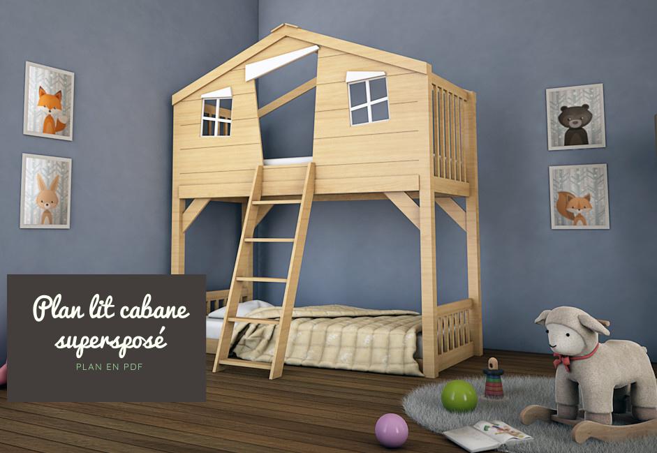 fabriquer lit cabane avec toboggan