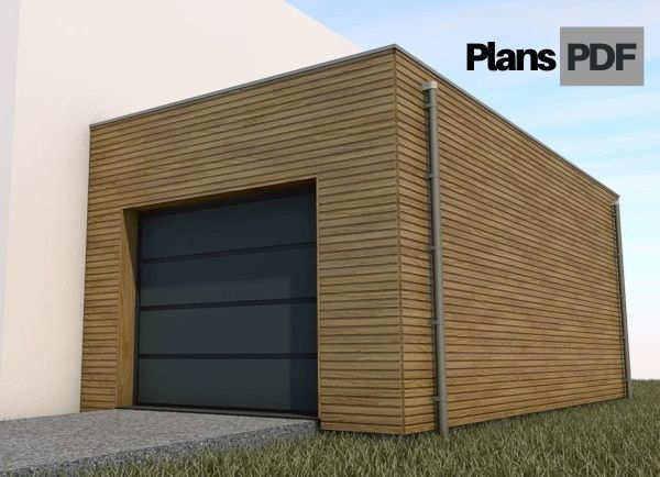 plan garage adossé ossature bois
