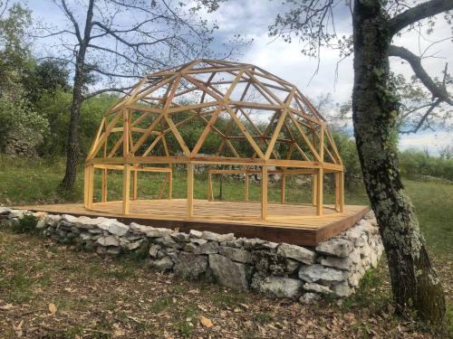 dome geodesique bois palette plan