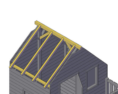 comment faire le toit d'une cabane en bois